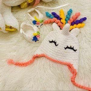 HANDMADE Baby Girl Unicorn Crochet Set 🦄☀️🌈